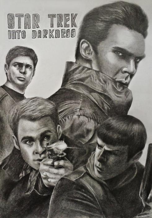Karl Urban, Benedict Cumberbatch, Zachary Quinto, Chris Pine par Beesiak